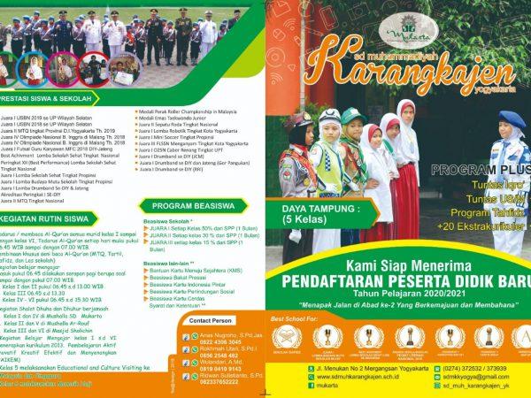 Penerimaan Peserta Didik Baru (PPDB) SD Muhammadiyah Karangkajen tahun ajaran 2020/2021