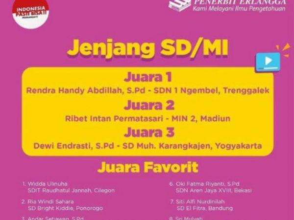 Juara 3 Kontes Guru Online 2020 Se-Indonesia