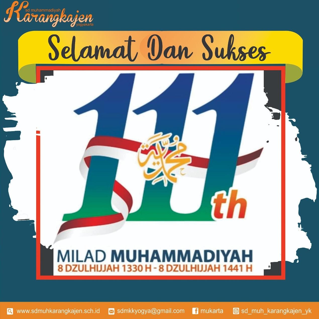 Milad Muhammadiyah ke-111