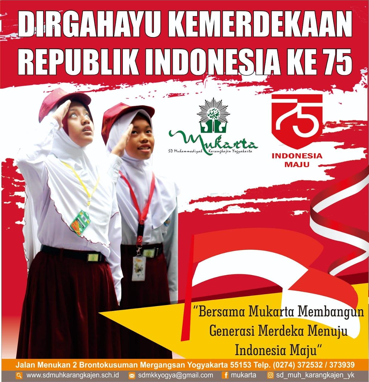 SELAMAT HARI JADI KEMERDEKAAN REPUBLIK INDONESIA KE 75